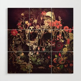Bloom Skull Wood Wall Art