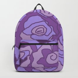 Lavender Dreams Roses - Mixed with Dark Outline Backpack