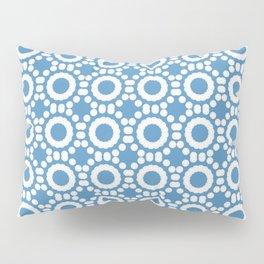 Round and Round Blue Pillow Sham