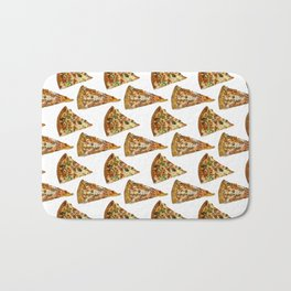 Spicy Meat Pizza Slice Polka Dot Pattern Bath Mat