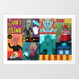 Doctor Who Monsters Art Print