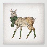deer Canvas Prints featuring Deer by David Fleck
