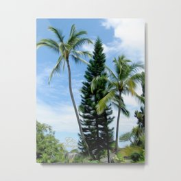 Beautiful Hawaiian Palms Metal Print