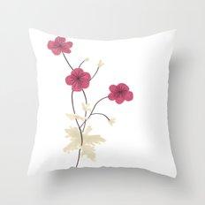 Armenian Cranesbill Flower Throw Pillow