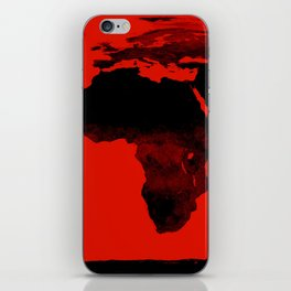 World Map Red & Black iPhone Skin