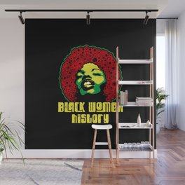 Black women history month  pride black power culture 1  Wall Mural