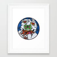 keith haring Framed Art Prints featuring Keith Haring Pig 1988  by cvrcak