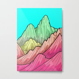 Candy Colour Mounts Metal Print