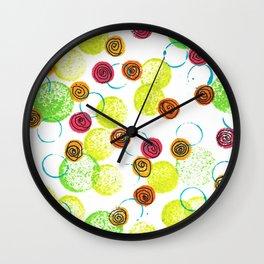 Spirals and Circles Wall Clock