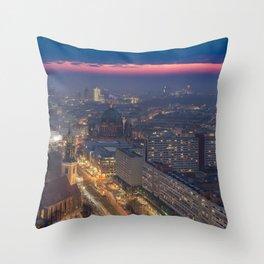 Sunset in Berlin Throw Pillow