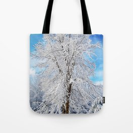 Snow Covered Tree Tote Bag