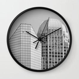 Two Giants BW Wall Clock