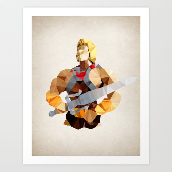 Polygon Heroes - He-Man Art Print
