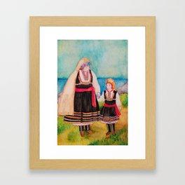 Women Folklore Framed Art Print