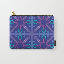Peace is Complex Tiled Carry-All Pouch