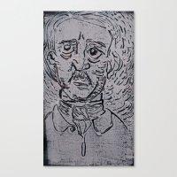 edgar allen poe Canvas Prints featuring Edgar Allen Poe by Vrgnwitch
