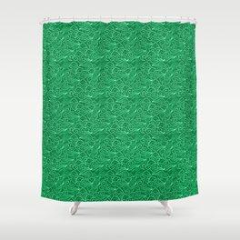 Vintage Japanese Clouds, Jade Green Shower Curtain