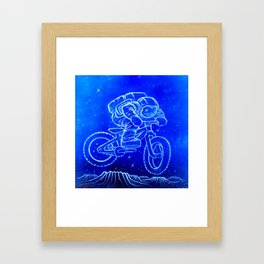 Astronaut Bicycle 2 Framed Art Print