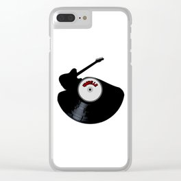 Nashville Country Music Silhouette Record Clear iPhone Case