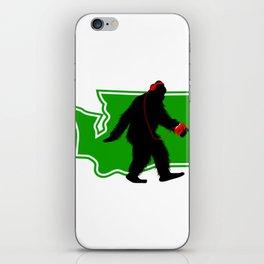 Bigfoot walk in Washington iPhone Skin