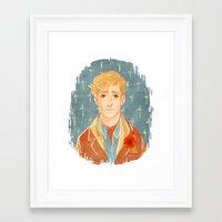 kieren walker Framed Art Prints featuring Kieren Portrait by Cy-lindric