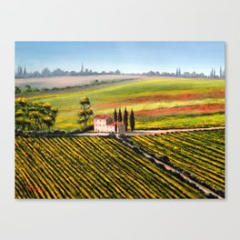 Vineyards In Tuscany Italy Canvas Print