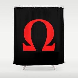 Ω omega Shower Curtain