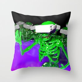 Slime skeletons VR Throw Pillow