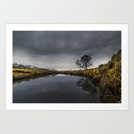 Clouds Roll over the Spey Art Print