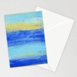 Relaxing Beach Aqua Turquiose Nautical Abstract Art Stationery Cards