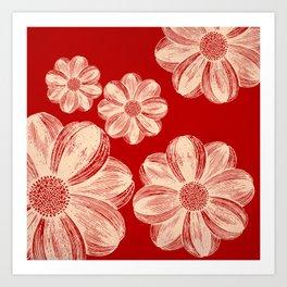 Neon Flowers 2 Art Print