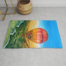 Red Hot Air Balloon Rug