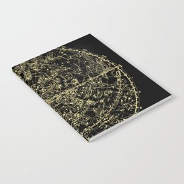 Astro Astronomy Constellations Astrologer Vintage Map Notebook