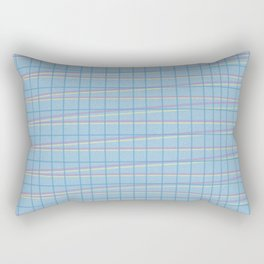 Zig Zag on Blue Rectangular Pillow