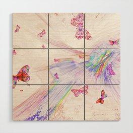 """""""Flash Dream ~ Butterflies"""" Wood Wall Art"""