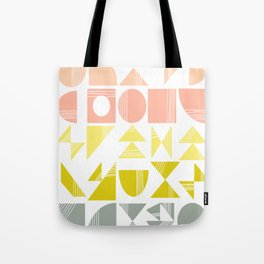 Organic Abstract Shapes in Soft Pastel Colors Tote Bag