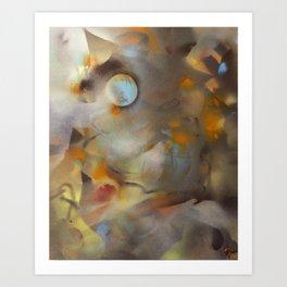 Blue October Moon Art Print