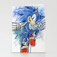 sonic Stationery Cards featuring Sonic by Luke Jonathon Fielding