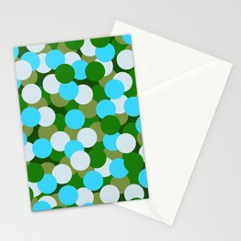 Abstraction_DOTS_GREEN_BLUE_COLOR_03 Stationery Cards
