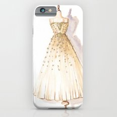 Glow and Cream Watercolor Gown iPhone 6s Slim Case
