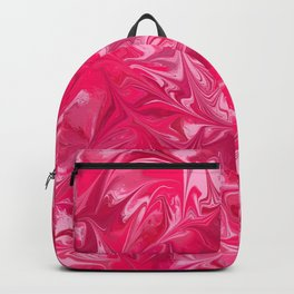 Pink Paint Swirl Backpack