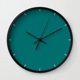 Quetzal Green| Pantone Fashion Color | Fall : Winter 2018 | Solid Color Wall Clock