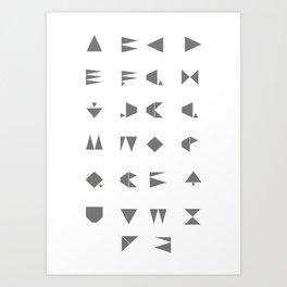 Beeline - Typeface Art Print
