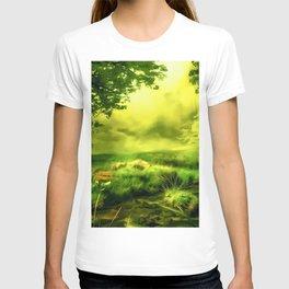 acrylic misty forest painting 2 acrstd T-shirt
