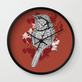 One Little Bird (Inverted Red Version) Wall Clock