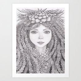 Succulent Goddess Art Print