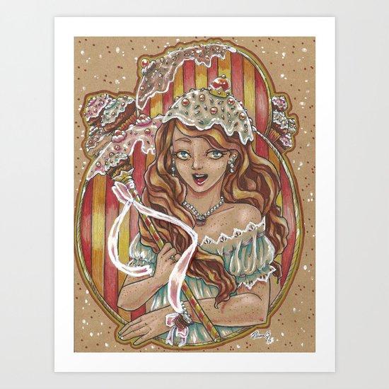 Cupcake Queen Art Print