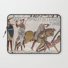 Battle of Hastings- Bayeux Tapestry King Harold Is Killed Arrow In Eye Laptop Sleeve