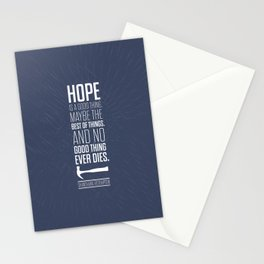 Lab No. 4 - Hope is a good thing Shawshank Redemption Movies Quotes Poster Stationery Cards