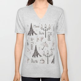 Paris Girl Unisex V-Neck